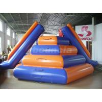Quality Reinforced Colorful Water Floating Inflatable Water Slide For Water Sports wholesale