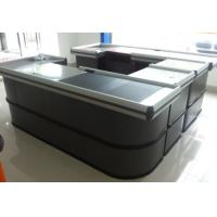 Quality Metal Checkout Desk , Checkout Cashier Counter With Motor Belt For Fast Food Restaurant wholesale