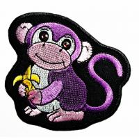 Quality Animals Monkey Custom Iron On Patches Fabric Woven For Garment Jacket Clothing wholesale
