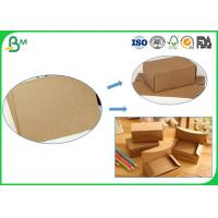 Quality Multi - laminated Kraft Liner Paper 250gsm - 450gsm Or Customized Size Brown Solid Board For Printing wholesale