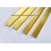 China T20 T Shaped Aluminum Extrusion Decorative Profiles / Strips For Door Brushed Gold on sale