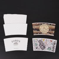 China hot paper cup sleeve,custom paper coffee cup sleeve with logo,coffee paper cups on sale