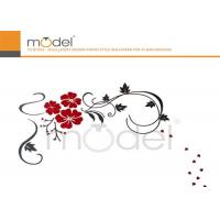 Quality Flower Pattern Acrylic Removable Wall Stickers For Home Decoration wholesale