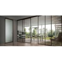 Quality Narrow Frame Aluminum Tempered Clear Glass Slidng Door for House wholesale