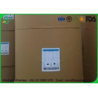 Uncoated White Bond Paper 80gsm , 53 55 58 60 - 80Gsm 1000 mm Jumbo Roll Paper For School Notebook