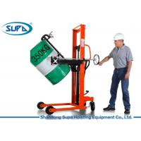 Quality Portable Mini Manual Forklift Stacker , Manual Hydraulic Stacker Oil Drum Rotator Type wholesale