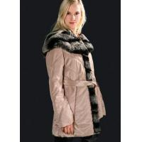 China Wire Fabric Overcoat with Rex Rabbit Fur Trimming (G-020) on sale