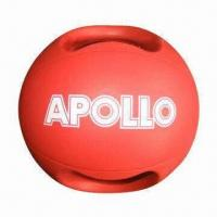 Quality Rubber Medicine Ball with Handle and 12lbs Weight, Comes in Red wholesale