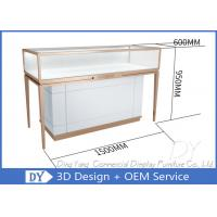 Quality Luxury Rose Gold Stainless Steel Jewellery Display Cabinets For Retail Shop wholesale