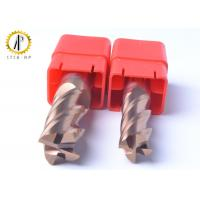 China Square 4 Flute Carbide End Mill Cutter For Side Machining Hardeness Material on sale