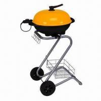 Quality Indoor/Outdoor Electric BBQ Grill, 220 to 240V/1,700 to 2,000W, Removable Cover wholesale