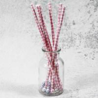 Quality 6mm small caliber pearl milk pink Horizontal stripes color Biodegradable Paper Drinking Straws wholesale
