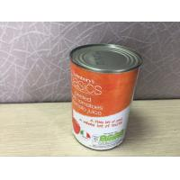 Quality 400g Steel Tin Cans Tomato Juice For Tinplate Fruit Height 100mm Custom Color wholesale