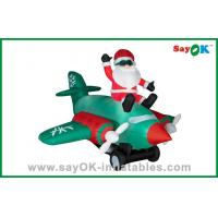 China Large Inflatable Santa Claus Outdoor Blow Up Christmas Decorations With SGS on sale