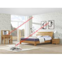 Quality Large-sized apartment Furniture bedroom set by solid wood legs and MDF melamine bed with open mirror dresser wholesale