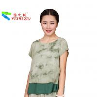 Quality Fashion Designs Womens Casual Blouses 100% Cotton Material With O Neck Collar wholesale