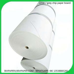 China Grey board roll / Grey cardboard roll / smooth grey chipboard roll and sheets on sale