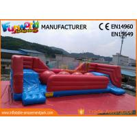 Quality Commercial 0.55 MM PVC Tarpaulin Inflatable Obstacle Course With Slide wholesale