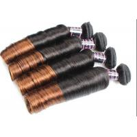 Buy cheap Colored Ombre Indian Human Hair Weave Egg Curl No Any Bad Smell from wholesalers