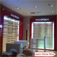 Nice decoration fashion mdf wooden mirror stainless steel men's clothing shop interior design