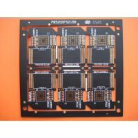 Four Layer Black Solder FR4 Multilayer PCB Manufacturer for SD Card , OEM and Customized