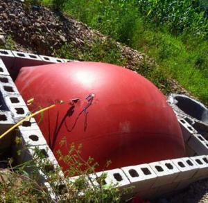 Quality Soft Bladder Methane Storage Tank 10000L For Methane / Natural Gas Storage wholesale