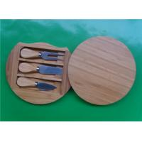 Quality Round Bamboo Knife Cheese Board wholesale