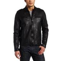 Quality customized S M L XL softshell winter polar Fleece Lined Leather padded Jacket wholesale
