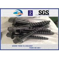 Quality Material 45# Railway Custom Railroad Track Spikes , Threaded Screw Spike wholesale