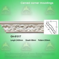 Quality Good Quality European- style Decorative PU Carved Crown Moulding for Ceiling wholesale