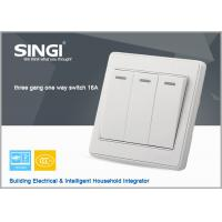 China EU/UK/US   3gang  smart switch wall touch switches, phone remote controller hometouch switches on sale