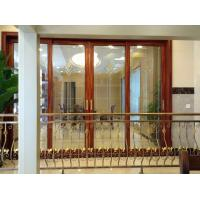 China Balcony Interior Aluminium Entrance Doors Color Reflectived Glazed Wind Pressure on sale