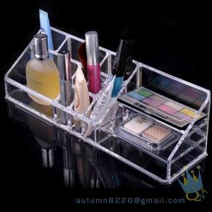 Quality acrylic cosmetic drawer organizer wholesale