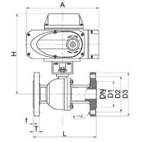 ASME600LB SS316 Motorized Ball Valve of Petrol Chemical Valve with Electric Actuator