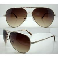 Quality Brown Circle Men Eyewear Metal Frame Sunglasses , Vogue Sun Glasses wholesale