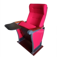 Quality Foldable Audience Seating PU Molded Foam Anti Stained Auditorium Chairs With Writing Board wholesale