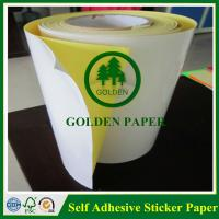 Buy cheap Self adhesive customized cmyk sticker printing paper from wholesalers