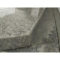 Quality Light Grey Stone Stair Treads And Risers , 7.5 Hardness Granite Stone Stairs wholesale