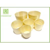 Quality Promotional Unique Disposable Wooden Icecream Cups With Different Shape wholesale