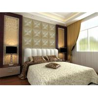 Cheap Embossed Wall Surface 3D Textured Wall Panels Removable Wall Sticker for Living Room for sale
