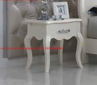 Cheap Ivory Classic Bed side table with wooden drawers for Nightstand design used by for sale