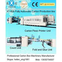Quality Fully Automatic Carton Box Production line with Folder Gluer and Strapper Inline wholesale