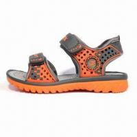 Quality Children's Sandals with High Quality PU Outsole, PU Upper and Mesh Lining wholesale