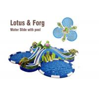 Buy cheap lotus and frog water slide largest inflatable water slide with round swimming from wholesalers