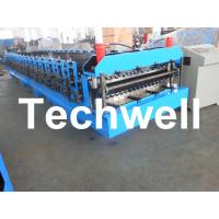 Quality Automatical Double Layer Roof Wall Panel Roll Forming Machine With 0.3 - 0.8mm Thickness wholesale