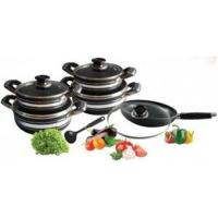 Quality 10 PC Heat Resistant Kitchen Aluminum Cookware Set with Thickness 3.0 mm wholesale