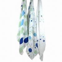 Quality 3-pack swaddle muslin baby blankets, made of 100% cotton or 100% organic cotton wholesale