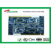 Quality 2 Layer PCB Board Immersion gold + plating gold fingers Blue solder mask wholesale