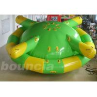 Quality Double Layer PVC Fabric Inflatable Saturn Rocker / Inflatable Floating Spinner wholesale
