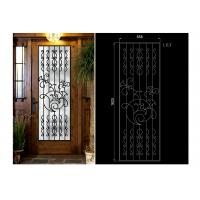 Quality Decorative Iron And Glass Doors For Entry Doors 15.5*39.37 / Custom Size wholesale